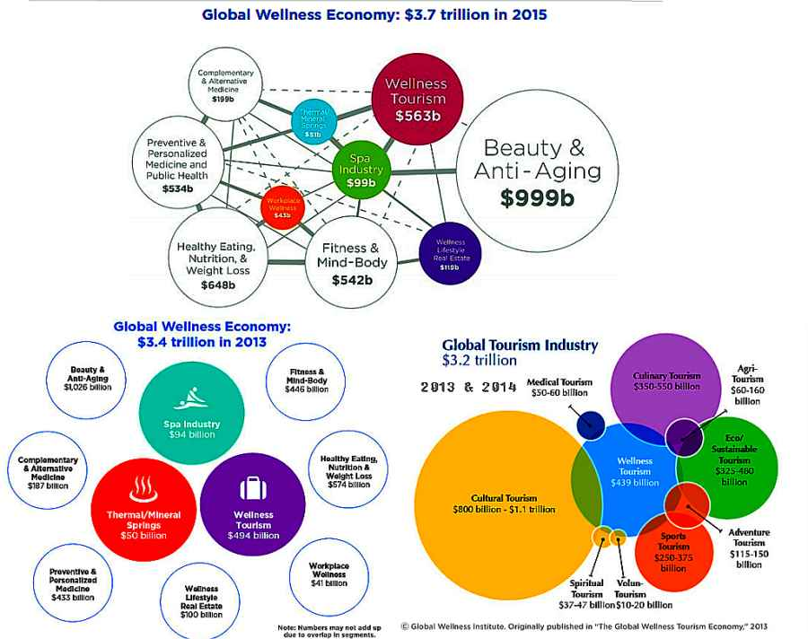 Wellness economy in 2013, 2014, 2015